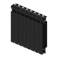 Радиатор биметаллический Rifar Monolit 350 (антрацит) с боковым подключением (8 секций)