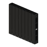 Радиатор биметаллический Rifar Supremo 350 (антрацит) с боковым подключением (8 секций)